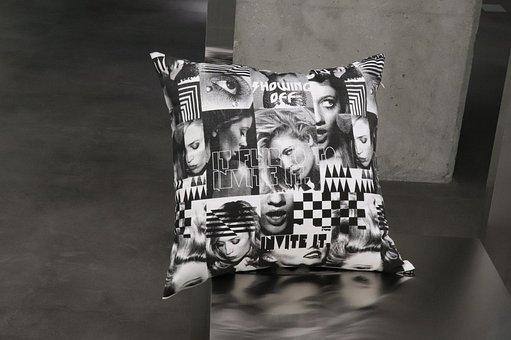 Cushion, A Living Room Cushion, Canvas, Fabric