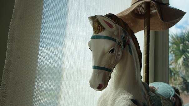 Horse, Carousal, Decor, Beautiful