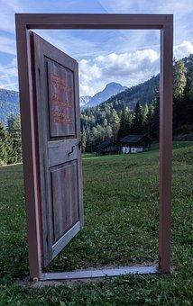 Door, Dolomites, Ladinia, Landscape, Decoration