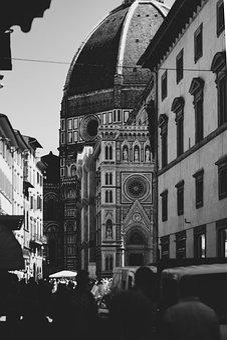 Florence, Duomo, Duomo Florence, Italy, Street, People