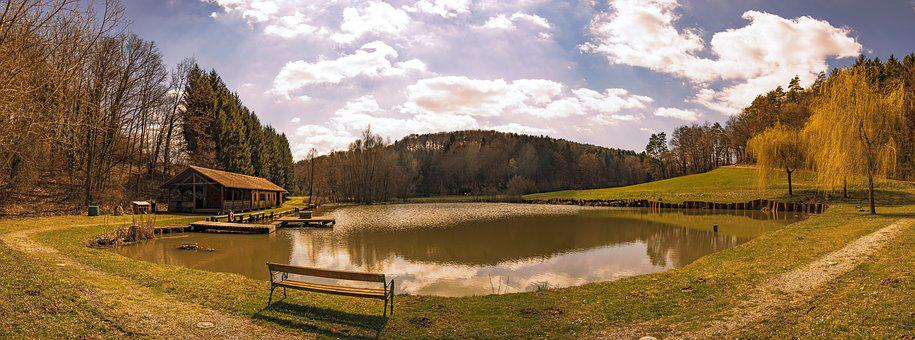 Panorama, Nature, Landscape, Sky, Clouds, Scenic, Water