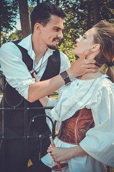 Romance, The Middle Ages, Couple, Showdown, Love