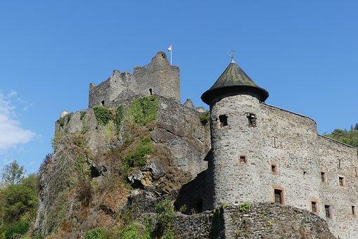 Castle, Eifel, Manderscheid, Low Castle, Middle Ages