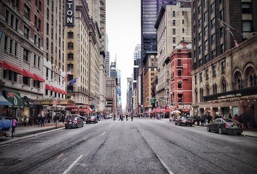 Ny, Street, Manhattan, Nyc, Urban, Architecture, New