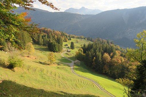 Autumn, Mountain Meadows, Alpine, Vorarlberg, Landscape