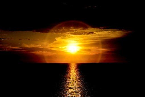 Sunrise, Atmospheric, Nature, Sky, Morgenrot, Dramatic