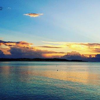 Sunset, Sea, Sky, Beautiful