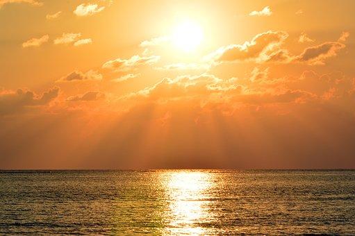 Sky, Sun, Sunset, Sunbeam, Abendstimmung, Mood