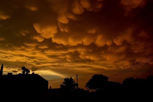 Mammatus Clouds, Clouds, Strange, Spectacular