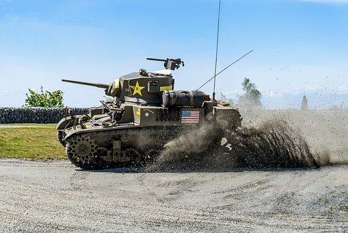 M3a1 Stuart, Tank Fest, Everett, Tank, Weapon, Military