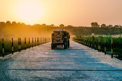 Tractor, Vehicle, Landscape, Rural, Transport