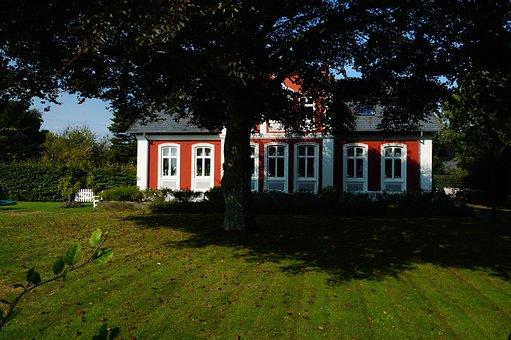 House, Farmhouse, Garden, Tree, Window, Rural