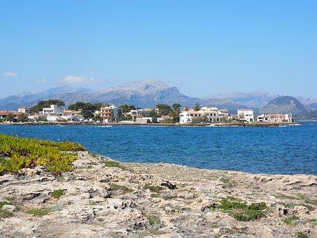 Bay, It Barcares, Mallorca, Bay Of Pollensa, Sea, Beach