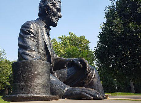 Abraham Lincoln, President, Statue, Bench, Giant
