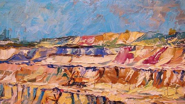 Quarry, Canvas, Oil