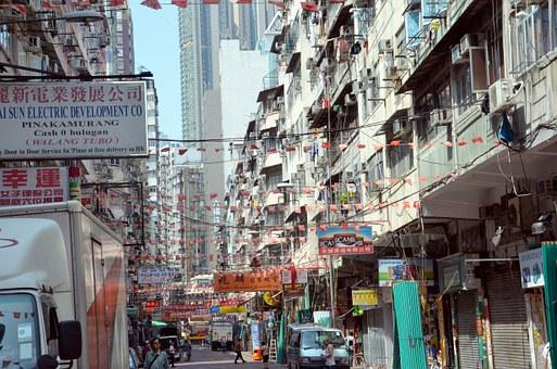 City, Crowded, Eng, Road, Hong Kong, Skyscraper