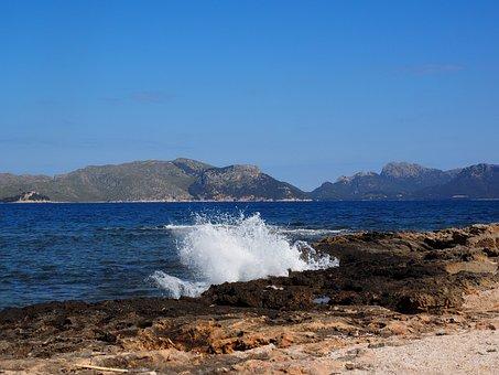 Bay, Mallorca, Bay Of Pollensa, Sea, Beach, Coast