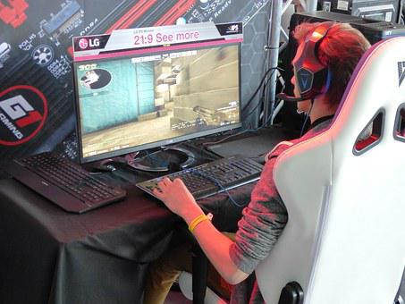Game, The Player, Headphones, Computer, A Computer Game