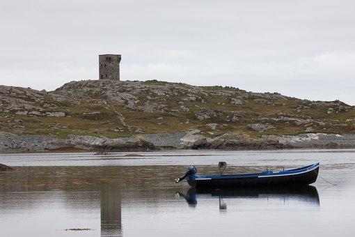Connemara, Boat, Ireland, Water, Landscape, Irish, Sea