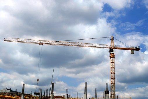 Construction Crane, Crane, Construction, Building, City