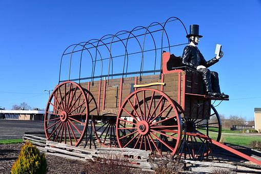 Route 66, Lincoln, Illinois, Covered Wagon