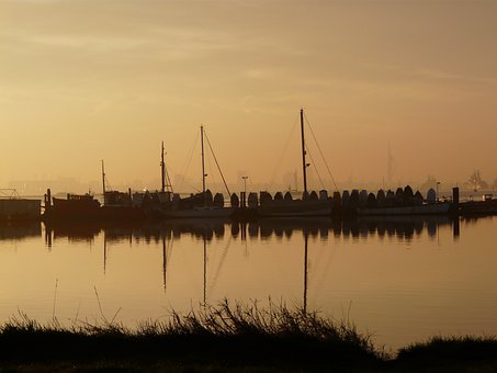 Portchester, Hampshire, Creek, Early, Morning, Cams Bay