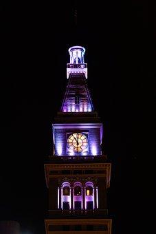 Usa, Denver, Clock Tower, Clock, Tower, Colorado