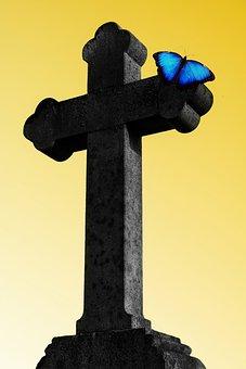 Cross, Easter, Resurrection, Live, Life Eternal, Christ