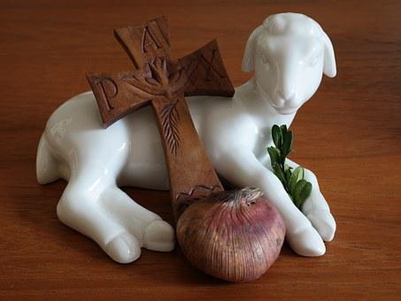 Easter, Lamb, Cross, Easter Greeting, Palm