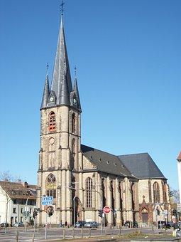 Church, Saarbruecken, St Jakob, Ancient, City, Europe