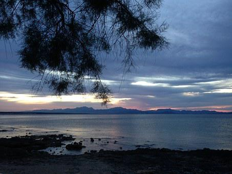 Abendstimmung, Sea, Bay Of Alcudia, Water, Evening Sky