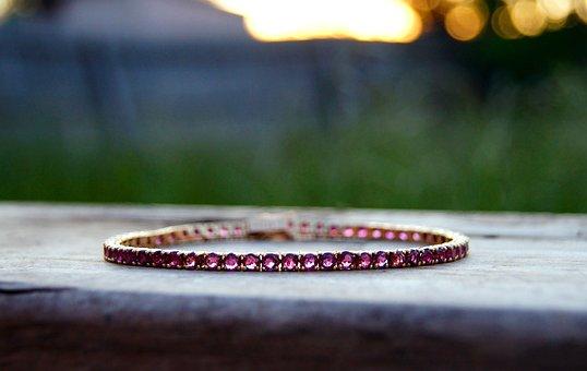 Ruby, Bracelet, Vintage, Gold, Jewellery, Gem, Fashion