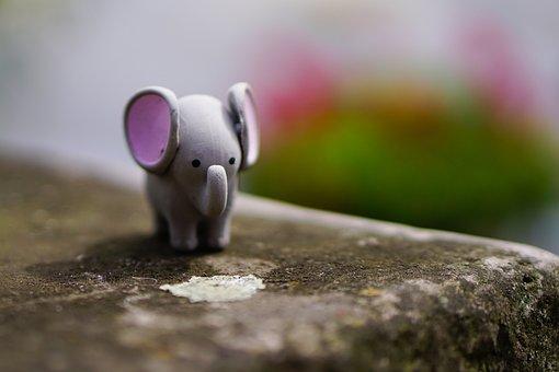 Elephant, Toys, Figure, Children Toys, Child, Children