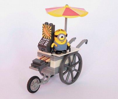 Minions, Hot Dog, Seller, Figure, Sell, Toys, Fun