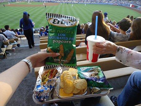 Dodgers, Dodgers Stadium, Food, Drink, Soda, Chips