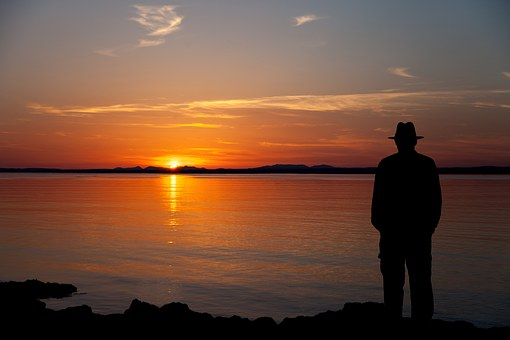 Galway Bay, Sunset, Galway, Bay, Flaggy, Shore, Male