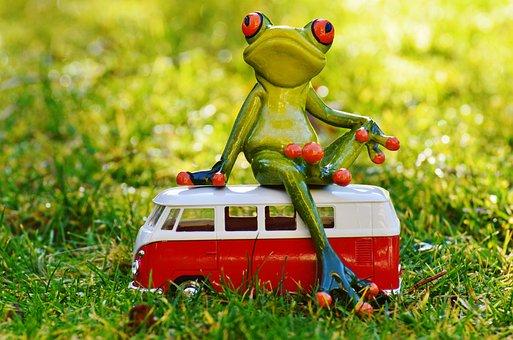 Frog, Bulli, Volkswagen, Animal, Cute, Funny, Go Away