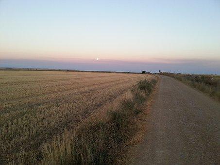 Jakobsweg, Camino De Santiago, Pilgrimage, Sunset