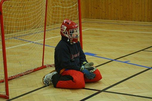 Sport, Floorball, Keeper, Child, Goal, League