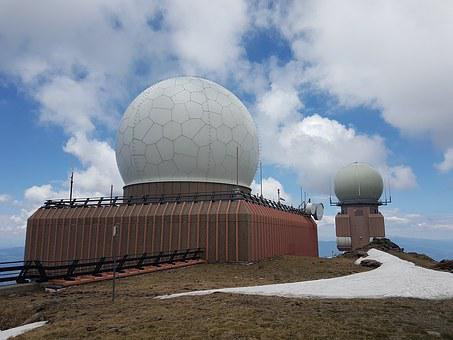 Sky, Clouds, Snow, Military, Monitoring, Koralpe