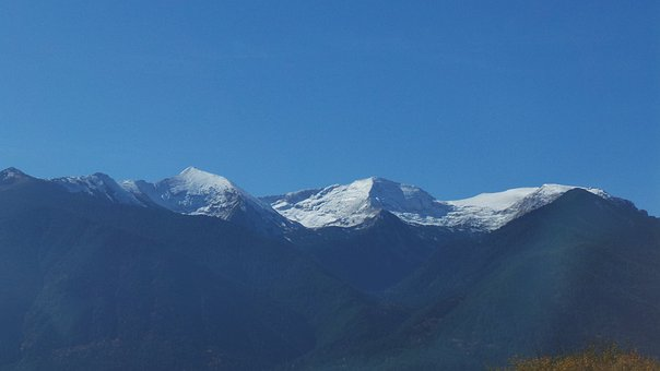 Mountain, Blue, Snow, Nature, Landscape, Sky, Mountains