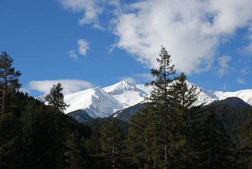 Bulgaria, Pirin Mountains, Spring, Nature, Trees, Snow