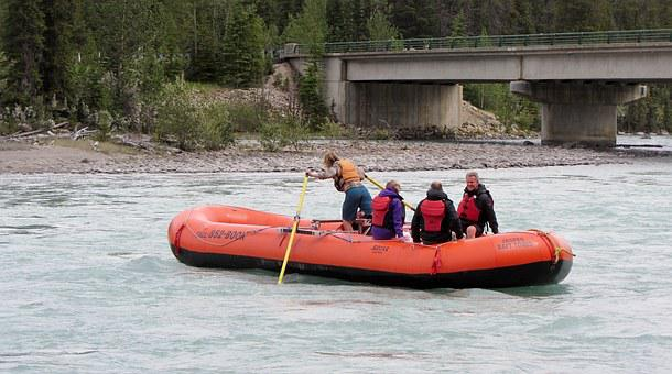 Adventurous, Cruise, Rapids, Rubber Boat, River, People