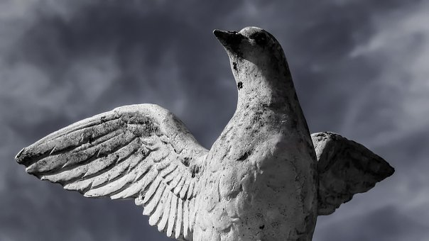 Peace, Wounded, In Danger, Pigeon, Symbol, Sculpture
