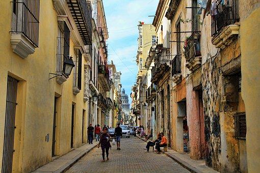 Cuba, Alley, Cuban, Road, Alive, Havana, Holiday, Human