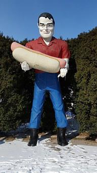 Route 66, Atlanta Illinois, Paul Bunyan, Statue