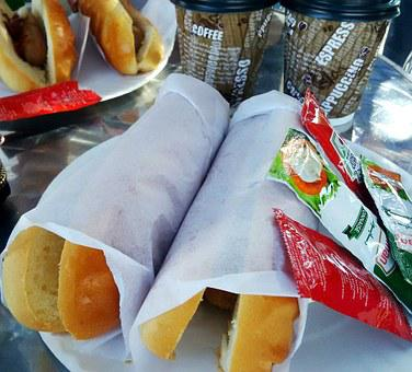 Hot Dogs, Food, Sausage, Delicious, Ketchup, Sandwich