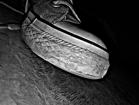 Shoes, Rubber, Wear, Old, Coverse, Dirty, Used