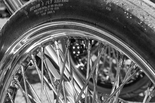 Rear Tire, Dice, Spoke, Rear Rubber, Bike