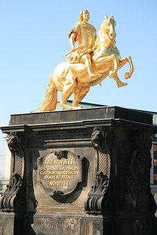Golden Rider, Dresden, Statue, Monument